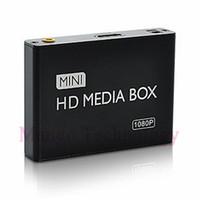 Vente en gros-2016 mini HDMI Media Player 1080P HDD-HDMI Full HD TV Vidéo lecteur multimédia lecteur support MKV / RM-SD / USB / SDHC / MMC