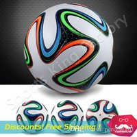 Wholesale 2014 WORLD CUP BRAZUCA FINAL MATCH SOCCER BALL SIZE Brasil NEW Top Glider Match Ball Brazil soccer ball