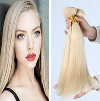 Wholesale Natural Blonde Human straight European Hair bundle Brazilian Malaysian Peruvian Blonde hair hair bundles double weft
