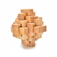 Wholesale Quality Chinese Kongming Luban Intelligence Wooden Lock Puzzle Toy For Child Learning Educational Puzzles