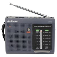 Wholesale Best FM AM Band Radio Receiver REC Recorder USB SD Card With MP3 Player FM Radio Multiband Grey Silver Y4151