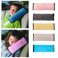 Wholesale Baby Pillow Kids Shoulder Pad Cover Car Auto Safety Seat Belt Harness Children Head Protection Covers Anti Roll Pillow Cushion