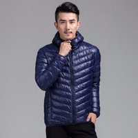 batik quilt - Men Light Weight Hooded Down Jacket Puffer Padded Quilt Coat Winter Slim Fit New