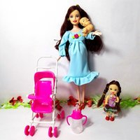 baby girl nursery furniture - Hot Sale dollhouse furniture children play house sets For Pregnant Barbie doll Baby Stroller Nursery Furniture Toys Kelly YF