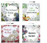 Wholesale New Secret Garden Coloring Book Painting Drawing Book theme Pages Animal Kingdom Relieve Stress For Children Adult Christmas Gifts