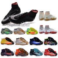 Wholesale Mens high ankle Football Boots CR7 Mercurial Superfly V EA SPORTS Soccer Cleats Magista II FG AG Shoes Superflys ACC Neymar x Hypervenom