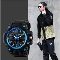 best mens digital watch - Best selling Fashion G series mens waterproof watches outdoor sports climbing LED double show shock proof luxury brand watch