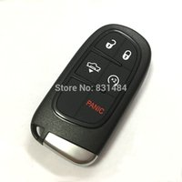 Wholesale New style replacement smart car key fob case cover for dodge jeep chrysler buttons with key blade