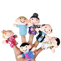 Wholesale Educational Family Finger Puppets Cloth Doll Cartoon Toy