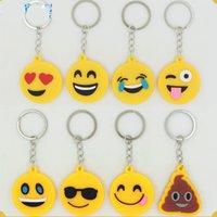 advanced crafts - New EMOJI key chain Keyring Double sides PVC soft rubber fluo yellow advanced matt craft cartoon key chain