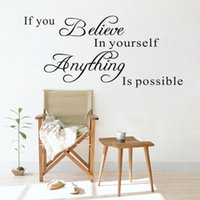 believe wall decor - QT The Romantic English Language Believe In Yourself Home Decor Wallpapers Art Mural Waterproof Bedroom Wall Stickers