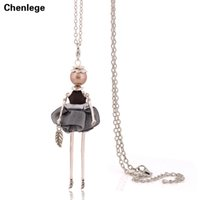 Pendant Necklaces antique doll body - women s body jewelry new arrival doll necklaces with pendants antique silver plating long necklaces cute hot