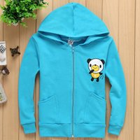 Wholesale 2017 Europe And The United States The New Spring Cap Single Zipper Children Jacket Bear Design C