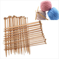 Wholesale 36Pcs Sizes Carbonized Bamboo Knitting Needles Set Single Smooth Crochet Needles Needle Arts Tools
