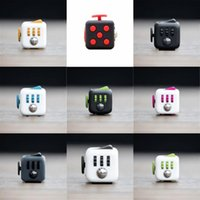adult box music - In stock Novelty Fidget Cube Toy Stress Relief Focus For Adults and Children Decompression Anxiety Toys with Retail boxes DHL free