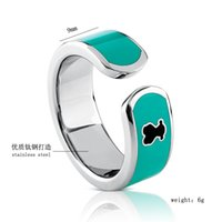 Wholesale New High quality Anillos mujer Luxury L stainless steel Enamel Colors Women Female cuff finger rings
