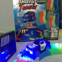 Wholesale Car Coasters Wholesale - Magic Track Car Toys For Children Racing Games DIY Puzzle Roller Coaster Track Electronics Toy Rail Car Toy