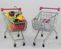 Wholesale 2017 Popular Christmas Gift Mini Supermarket Trolley Stainless Colorful Children Toy Alloy Shopping Cart Model China Supplier
