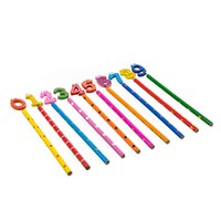 Wholesale Affordable Cute Wooden Number Pencils For Kids Random Pattern