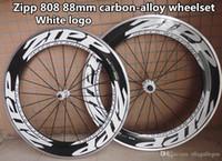 Wholesale White logo Zipp mm carbon alloy bike Wheels with mm width ipp road bike carbon alloy wheels