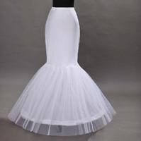 Los crinolines al por mayor de la falda del aro de los underskirts del vestido del quinceanera de Tulle de la trompeta del vestido de boda de la sirena liberan el envío