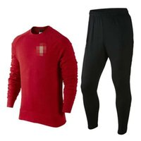 Wholesale Thai Quality New Portugal Red Training Clothing Embroidery
