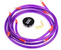 Wholesale Racing universal Grounding Cable Wire Kit For Universal Car Earth System Grounding Cable Purple High Quality points