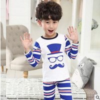 Wholesale Children s Pajama Set New Spring Boys in the Large Variety of Fashion Underwear Suit Colors Size4 ly174