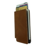aluminium wallets for men - Thin metal aluminium alloy made holder with id cards credit cards pop up cards gradually slim wallet mini size gift for men