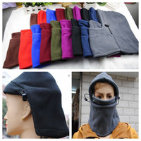Wholesale Outdoor Windproof Hat Men Hook Face Mask Thermal Balaclava Hood Winter Face Mask Hat Cycling Riding Ski Caps Headgear Scarf OOA922