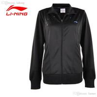 Wholesale LI NING New Tennis Training Jacket Women Breathable Solid Collar Jacket Quick Dry Sport Jacket LINING AWDH348