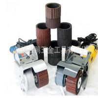 220V máquina eléctrica de dibujo de alambre de metal, luz de arena, máquina de pulido portátil para el tratamiento de pulido de espejo de acero inoxidable