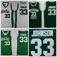 Precio de Camiseta para correr verde-Michigan State Spartans Magia Johnson Jerseys 33 Universidad de la Universidad de jerseys camiseta corriendo Color Verde para los hombres Tamaño s-xxxl
