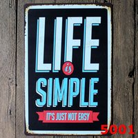 Wholesale a reasonable notice about life poster Tin Sign Coffee Shop Bar Restaurant Wall Art decoration Bar Metal Paintings