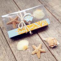 Las velas creativas libres de la concha de Shell del mar del envío 3pcs / box para los regalos de los recuerdos del cumpleaños de la fiesta de bienvenida al bebé del banquete de boda favorecen ZA3011