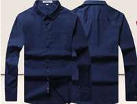 Wholesale Large size men long sleeved shirt Polo Pangge loose large business casual shirt with fat is fat