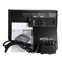 Wholesale MXQ PRO Android TV BOX Quad Core Amlogic RK3229 Android With KODI Fully Loaded Update MXQ Smart TV IPTV Boxes