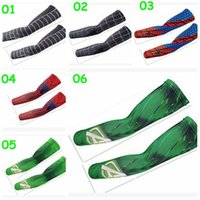 Wholesale 10 color unisex Summer superhero arm sleeve spiderman Superman batman captain America outdoor printing arm warmers armbands