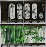 Wholesale Fine bamboo six screen report peaceful lacquer process with Chinese characteristics