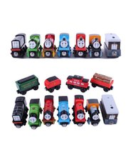 Wholesale Wood Tiny Trains Cartoon Toys Mix Styles Car Toys Vehicle ailway Set Christmas Xmas Gift for Boys Kids Diecast Model Cars DHL