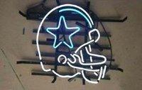 beer football helmet - 17 quot x14 quot Dallas Cowboys Helmet Football Handcrafted Real Glass Tube BEER BAR CAR GARAGE NEON LIGHT WALL SIGN