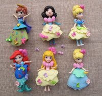 Wholesale 6pcs set princess doll furnishing articles clothes Can be Remove the cm doll toys WJ1