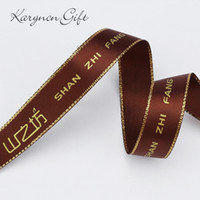 ribbon decoration accessories labels - mm mm mm custom ribbon with wedding brand logo and party Gifts Wedding car decoration wedding party supply yards