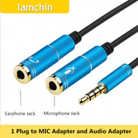 audio connecter - Lamchin Loly in mm Audio Jack to Earphone and Microphone Stereo Cable Male to Female Audio Splitter Adapter Connecter