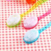 Wholesale New Arrival Plastic Bath Brush Back with Long Handle Bath Reach Feet Rubbing Brush Brushes Body Bathroom Product