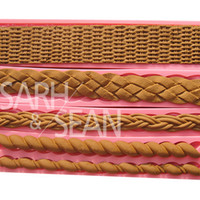 bamboo borders - Bamboo Basket Rattan Braided Fabric Border Decorations Fondant Cake Molds Chocolate Molds for the Kitchen Baking and Tools