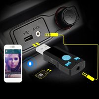 bc card - BC Bluetooth Car Kit Handsfree Wireless Music Receiver USB mm Audio Jack Support TF Card