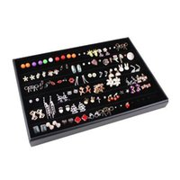 Wholesale 2017 New Fashion Black Ring Earrings Bracelet Necklace Velvet Jewellery Display Box Cufflinks Storage Case Organizer