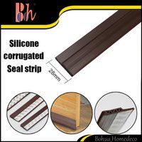 White, Brown   28mm*1M Self-Adhesive Silicone Rubber PVC Wooden Aluminum Glass Door Bottom Side Weatherstripping Waterproof Windproof Sealing Strips