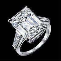 baguette ring setting - 12 ct GIA J VS1 emerald cut baguette diamond engagement stone ring platinum